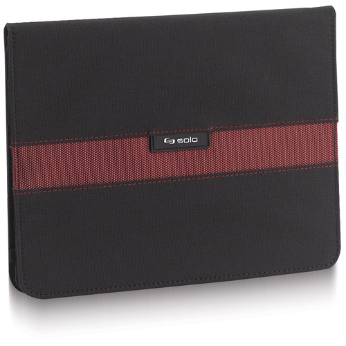 Solo Sterling Carrying Case for iPad - Black, Red