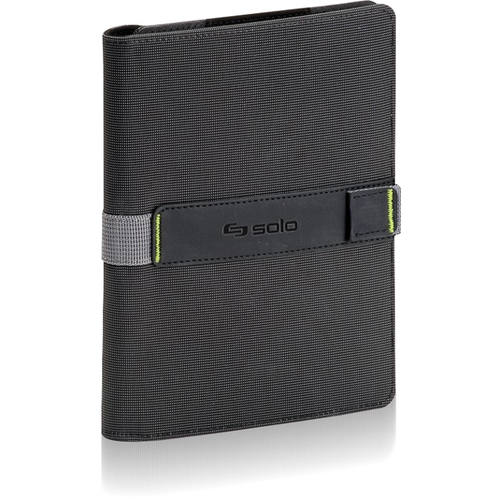 Solo Storm Carrying Case (Book Fold) for iPad - Black, Green