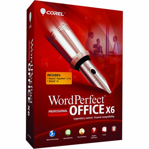 Corel WordPerfect Office v.X6 Professional Edition - Upgrade Package - 1 User
