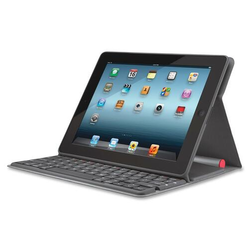 Logitech Keyboard/Cover Case (Folio) for iPad - Black