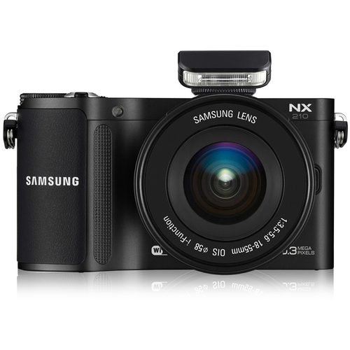 Samsung NX210 20.3 Megapixel Mirrorless Camera (Body with Lens Kit) - 18 mm - 55 mm - Black