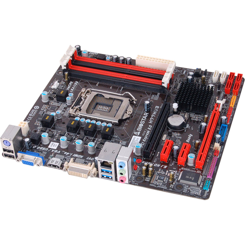 Biostar H77MU3 Desktop Motherboard - Intel H77 Express Chipset - Socket H2 LGA-1155