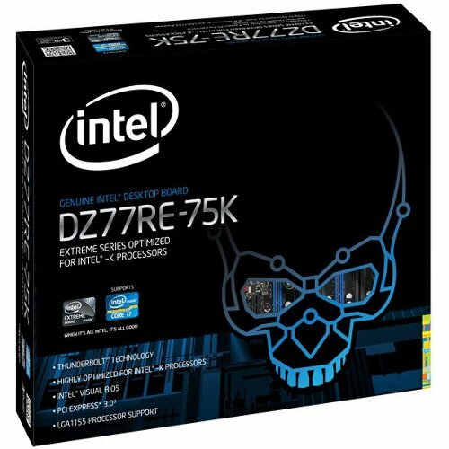 Intel Extreme DZ77RE-75K Desktop Motherboard - Intel Z77 Express Chipset - Socket H2 LGA-1155 - 1 x Retail Pack