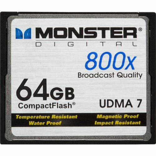 Monster Cable CFA-0064-808 64 GB CompactFlash (CF) Card - 1 Card