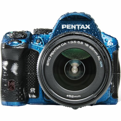 Pentax K-30 16.3 Megapixel Digital SLR Camera (Body with Lens Kit) - 18 mm - 55 mm - Blue