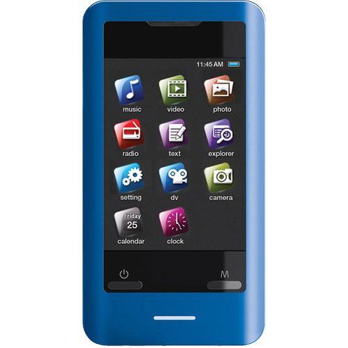 Coby MP828 8 GB Blue Flash Portable Media Player