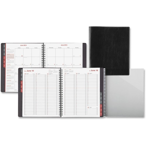 Day-Timer Black Vertical Format Weekly/Monthly Planner