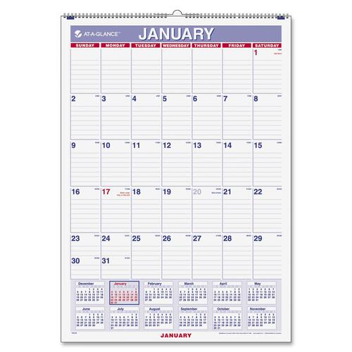 Mead Westvaco Recycled Monthly Wall Calendar