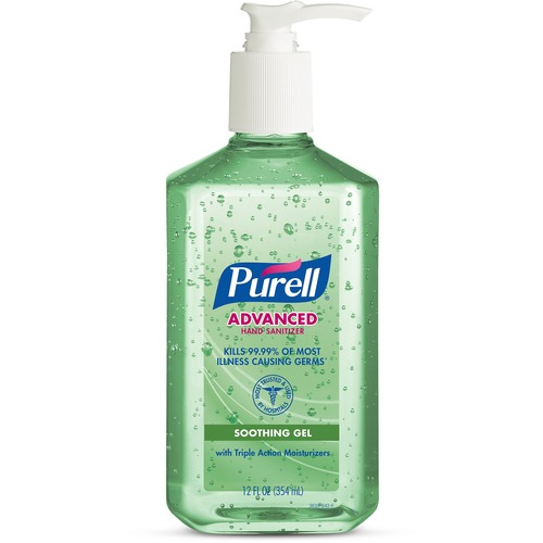 PURELL® Instant Hand Sanitizer with Aloe 12 oz - Pump Bottle Dispenser, 1 each