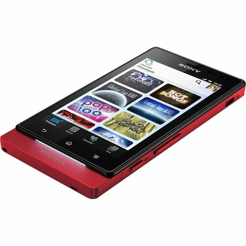 Sony XPERIA sola Smartphone - Wi-Fi - 3G - Bar - Red