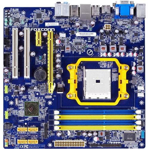 Foxconn A75M Desktop Motherboard - AMD Hudson D3 Chipset - Socket FM1