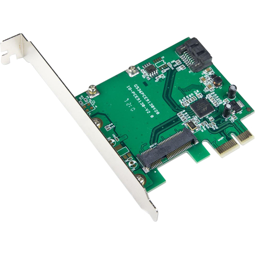 SYBA Multimedia HyperDuo mSATA Solid-state Drive (SSD), and SATA 6G HDD PCI-e Controller Card
