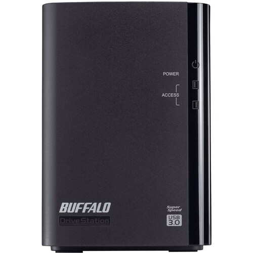 Buffalo DriveStation Duo HD-WL8TU3R1 DAS Hard Drive Array - 2 x HDD Installed - 8 TB Installed HDD Capacity