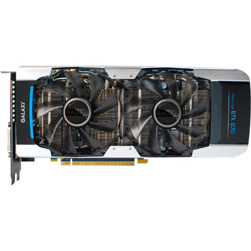 Galaxy Technology 67NQH6DN6KXZ GeForce GTX 670 Graphic Card - 1006 MHz Core - 4 GB GDDR5 SDRAM - PCI Express 3.0