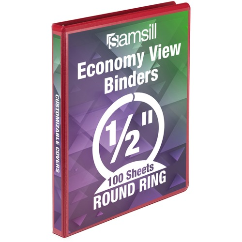 Samsill Economy Round Ring View Binder | by Plexsupply