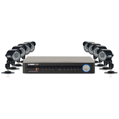 Lorex ECO2 8 Channel Wired DVR Security Camera System