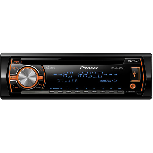 Pioneer DEH-X5500HD Car CD/MP3 Player - 56 W RMS - iPod/iPhone Compatible - Single DIN