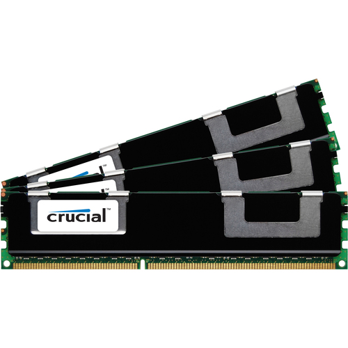 Micron Technology 24GB Kit (8GBx3), 240-pin DIMM, DDR3 PC3-10600 Memory Module