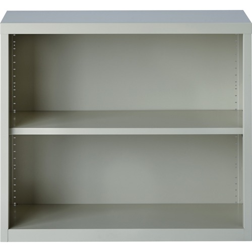 Lorell Fortress Series Light Gray Steel Bookcase | by Plexsupply