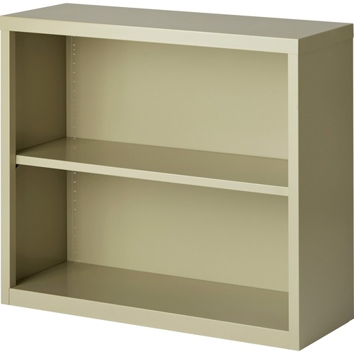 Lorell Fortress Series Putty Steel Bookcase | by Plexsupply