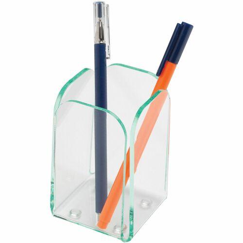 Lorell Acrylic Transparent Desktop Pencil Cup | by Plexsupply