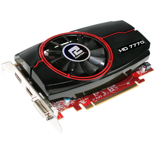 PowerColor Radeon HD 7770 Graphic Card - 1000 MHz Core - 1 GB GDDR5 SDRAM - PCI-Express 3.0 x16