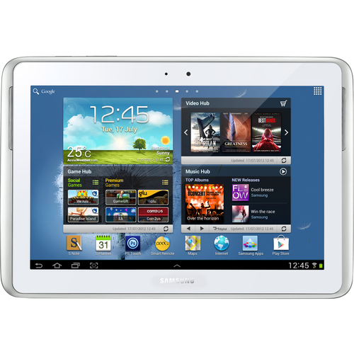 "Samsung Galaxy Note GT-N8000 10.1"" 16 GB Tablet - Wi-Fi - 3G HSDPA - 1.40 GHz - White"