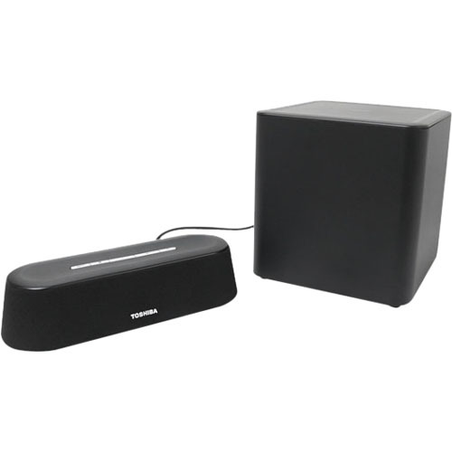 Toshiba PA5075U-1SPA 4.1 Speaker System - 90 W RMS - Wireless Speaker(s) - Black