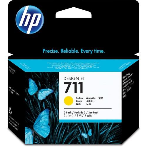 HP 711 Tri-pack Ink Cartridge | Yellow