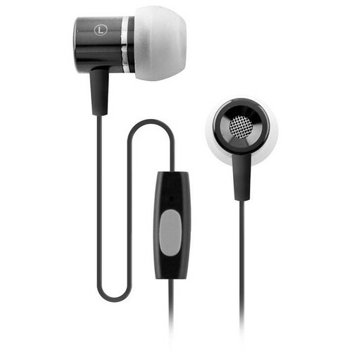 Coby Stereo Earphones with Mic for Smartphone - Black