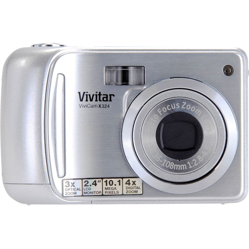Sakar ViviCam X324 10 Megapixel Compact Camera - Strawberry