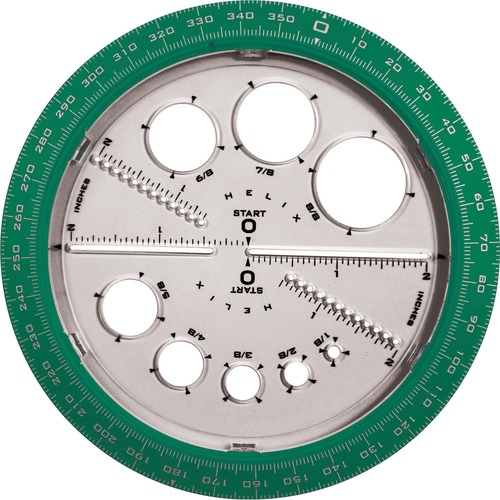 Helix Angle and Circle Protractor   by Plexsupply