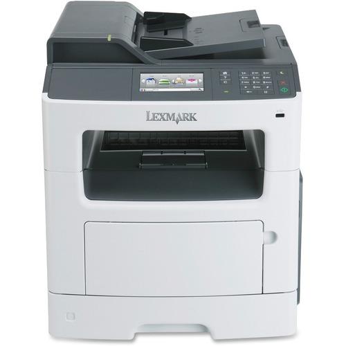Lexmark MX410DE Laser Multifunction Printer - Monochrome - Plain Paper Print - Desktop