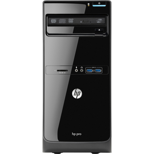 HP Business Desktop Pro 3500 Desktop Computer - Intel Pentium G860 3 GHz - Micro Tower