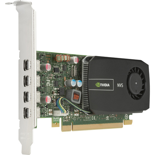 HP Quadro 510 Graphic Card | 797 MHz Core | 2 GB DDR3 SDRAM | PCI Express 2.0 x16 | Low-profile