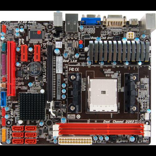 Biostar TA75MH2 Desktop Motherboard - AMD A75 Chipset - Socket FM2