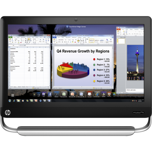 HP TouchSmart Elite 7320 All-in-One Computer - Refurbished - Intel Core i3 i3-2100 3.10 GHz - Desktop