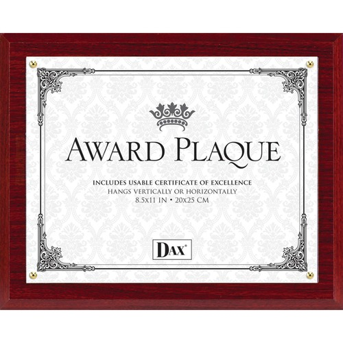 Burns Grp. DAX Mahogany Wall Award Plaque | by Plexsupply
