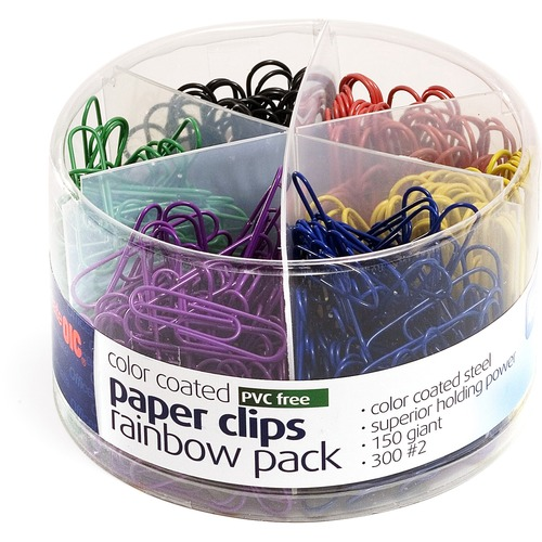 Officemate Coated Paper Clips Tub | by Plexsupply
