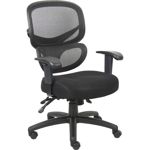 Lorell Fabric Seat Mesh Back Executive Chair | by Plexsupply