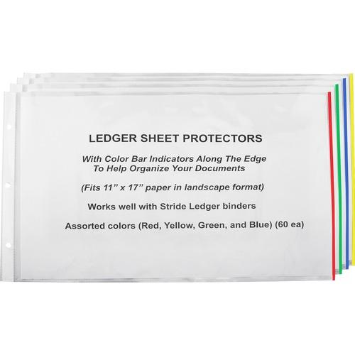 Stride, Inc. Semi-clear Landscape Sheet Protectors | by Plexsupply