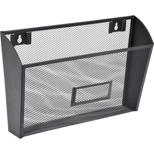 Lorell Steel Mesh Wall Pocket | by Plexsupply