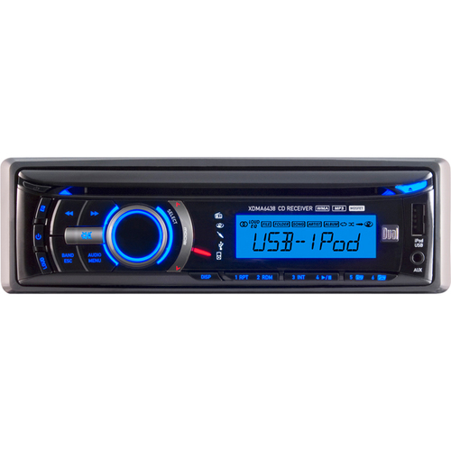Dual Electronics XDMA6438 Car CD/MP3 Player - 72 W RMS - iPod/iPhone Compatible - Single DIN