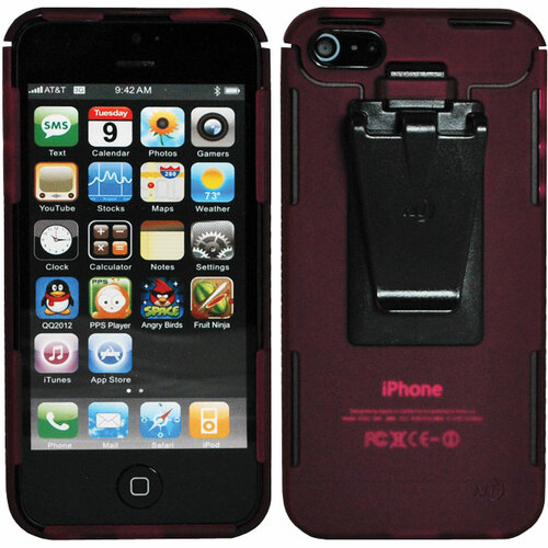 Nite Ize Connect Carrying Case for iPhone - Cranberry