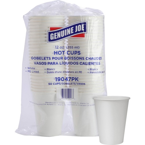 Genuine Joe Single Wall Lined Disposable Cups | by Plexsupply