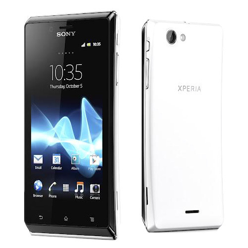 Sony Xperia J ST26a Unlocked Android Phone Wi-Fi 3G Bar White