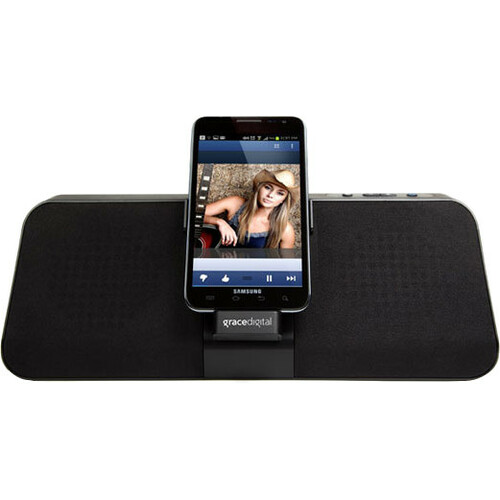 Grace Digital GDI-GSD8200 GDock Charging Speaker Dock for Samsung Galaxy S II/III and Note I/II - Portrait and Landscape Modes(Black)