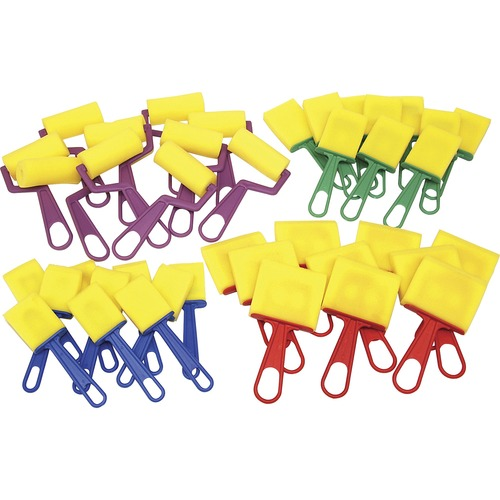 Chenille Kraft Foam Brushes/Rollers Classroom Pack   by Plexsupply