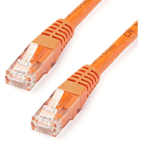StarTech.com 25 ft Cat 6 Orange Molded RJ45 UTP Gigabit Cat6 Patch Cable | 25ft Patch Cord