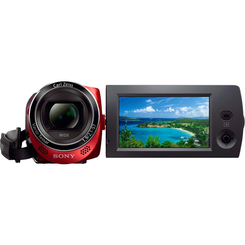 "Sony Handycam HDR-CX220 Digital Camcorder - 2.7"" LCD - Exmor R CMOS - Full HD - Red"